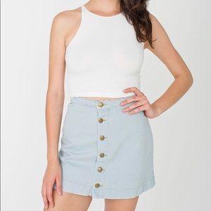 American Apparel // Button down denim skirt // S